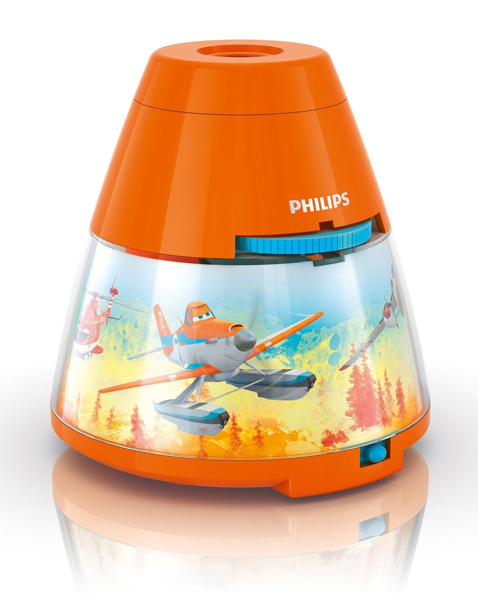 Philips 708000000 1 1 Watt LED Projektor Disney Planes, Orange