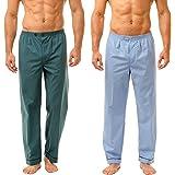 Haigman Men's Easy Care Long Pyjama Bottoms Twin Pack Sleepwear Nightwear