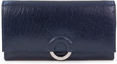 Catwalk Collection Handbags - Vera Pelle - Borsellino/Portafoglio/Portamonete da Donna - Scatola Regalo - Odette