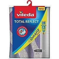 Vileda Total Reflect Telo da Stiro, Copriasse da Stiro Universale, Imbottito, con Elastico, in Tessuto, Grigio, 120–130…