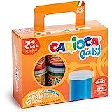 Carioca Baby Finger Paints | Set Pintura de Dedos con 6 Témperas Super Lavables para Niños de 24 Meses. Colores Surtidos, 80