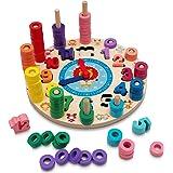 Hi!Leon® 2-in-1 Montessori Spielzeug ab 3 Jahre zum fantasieanregenden Spielen und Zahlen Lernen, Waldorf Spielzeug, Lernuhr