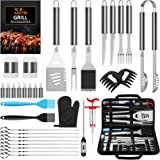 AISITIN BBQ Accessories 35PCS BBQ Tools Set Stainless Steel Barbecue Accessories for Camping Kitchen BBQ Utensils Set for Men