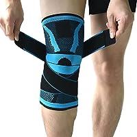 Tutore per ginocchio, fascia per ginocchio con chiusura antiscivolo regolabile a pressione, protezione per ginocchio…