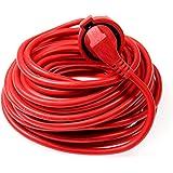 as - Schwabe 51153 Verlängerungskabel 15m Leitung in Rot , 230 Volt