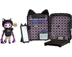 Na Na Na Surprise 3 en 1 Mochila Dormitorio Black Kitty con Muñeca Tuesday Meow de Edición Limitada