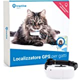 Tractive TRKAT1 - Localizzatore GPS per gatti, a Portata illimitata, Monitoraggio dell'attività, Durata della batteria fino a