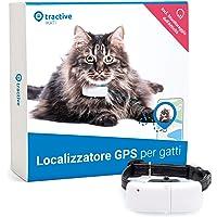 Tractive TRKAT1 - Localizzatore GPS per gatti, a Portata illimitata, Monitoraggio dell'attività, Durata della batteria…