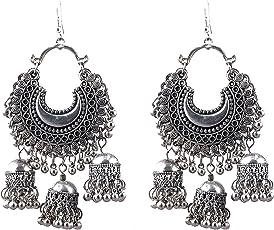 Cardinal Oxidised Stylish Hook Earring For Women/Girls