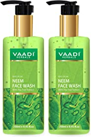 Vaadi Herbals Pack Of 2 Anti-Acne Neem Face Wash With Tea Tree Extract, 250 ml (Pack of 2)