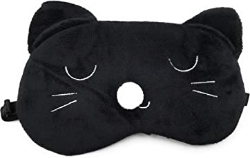 24x7 eMall Cute Cat Eye Shade Cartoon Blindfold Eyes Cover for Proper Sleep (Cat) - Pack of 1