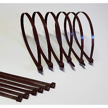 100 Stck Kabelbinder braun 360 x 4,8 mm  Europäische Ware  Industriequalität