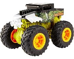 Hot Wheels Monster Trucks Bash-Ups, Veicolo con Funzione Ripristino dopo lo Scontro, Giocattolo per Bambini 4+Anni,GCF94