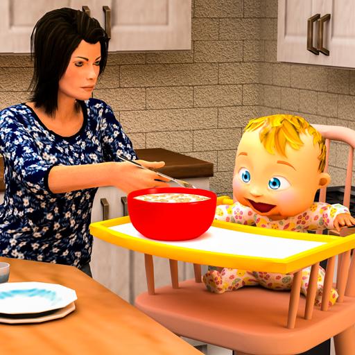 Virtual Mother Simulator 3D: glückliche Familie schwangere Mutter Baby Kindertagesstätten Spiele - Baby Simulator
