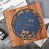 VIEWLON Album Photo Scrapbooking en Bois, 80 Pages Grande Taille 28.5x28.5cm DIY Traditionnel Scrapbook, pour 10x15, 11x15 ou