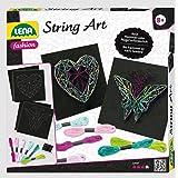 Lena 42650 - Bastelset String Art Schmetterling und Herz, Komplettset für 2 Fadenbilder, mit 2 Grundplatten, ca. 21, 5 x 21,