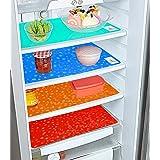 Kuber Industries Diamond Design 4 Pieces PVC Refrigerator/Fridge Multipurpose Drawer Mat Set(Blue, Green, Red & Orange) - CTK