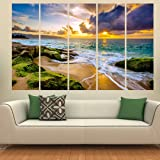 Kyara arts Multiple Frames, Beautiful River View Nature Wall Painting for Living Room, Bedroom, Office, Hotels, Drawing Room