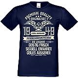 Geburtstagsgeschenk Männer Geschenk zum 70 Geburtstag - Herren T-Shirt Edel Jahrgang 1949 - mit Urkunde auch in Übergrößen Farbe: Navy-blau