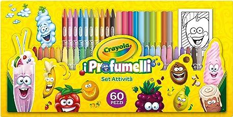 Crayola - i Profumelli Set Attività per Disegnare con Colori Profumati, per Gioco e Regalo, 60 Pezzi, 04-0371