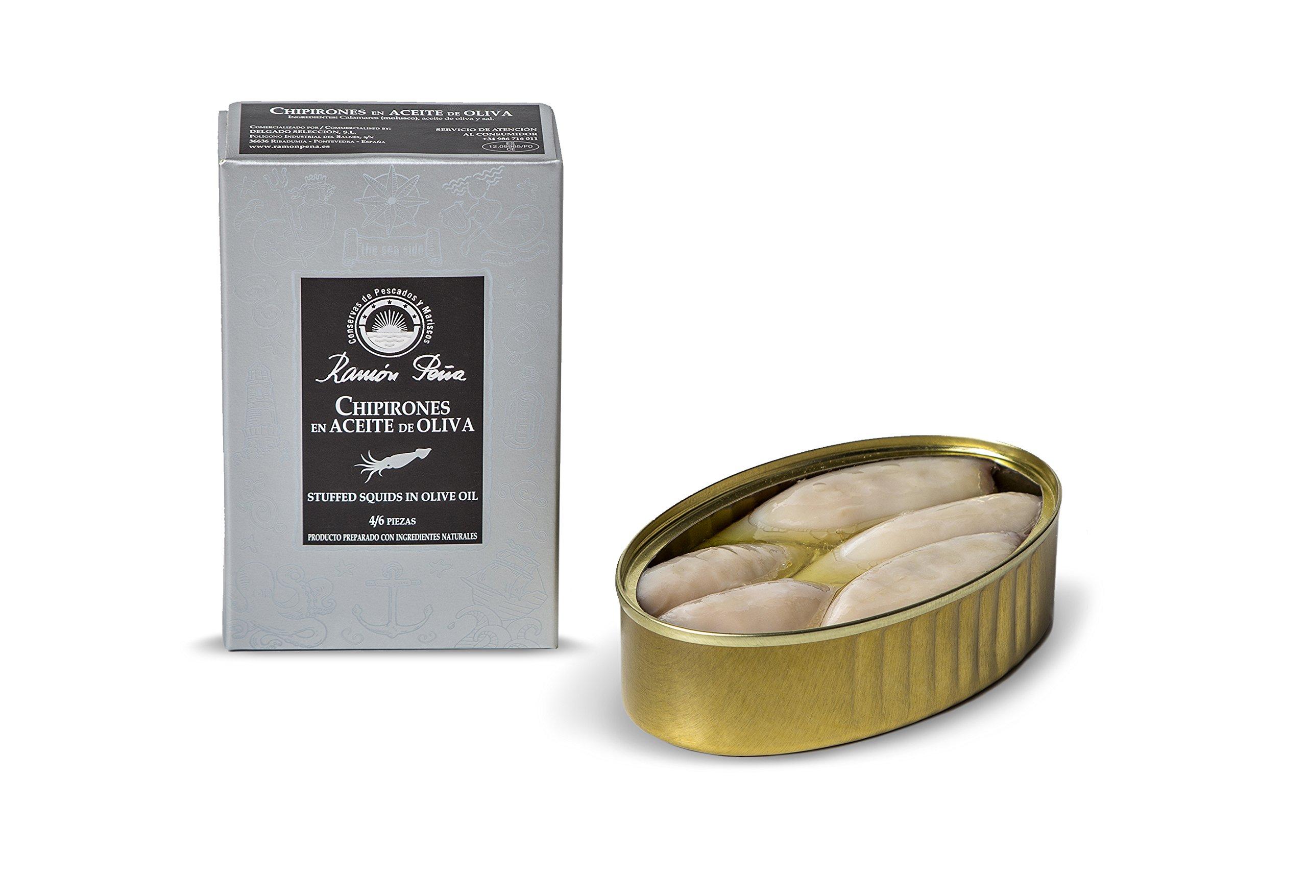 RAMON PEÑA - calamari in olio d'oliva 4/6 OL120 confezione 3 unità