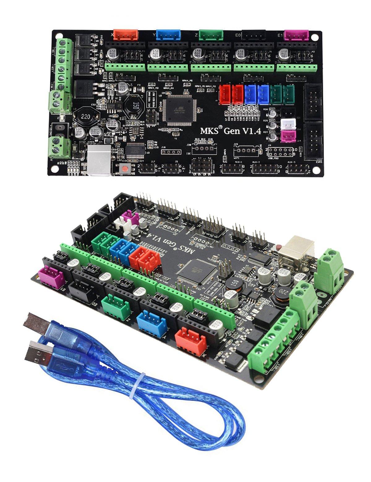 Imprimante 3D MKS Ramps1.4 carte mère de contrôle de Mega 2560 R3 de carte mère d'impression 3d compatible avec USB