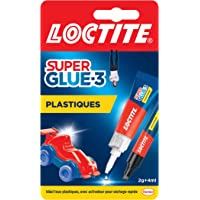 LOCTITE Colles Cyanoacrylates SUPERGLUE-3 Spécial Plastiques Tube 2g + Stylo 4ml Blister 12uc