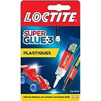 Loctite Super Glue-3 Spécial plastiques, colle forte pour tout plastique, colle transparente à séchage immédiat, tube de…