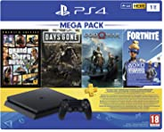PS4 1TB Slim console (Games Included : Grand theft Auto V /Days Gone/God of War/Fortnight Voucher /PSN 3 Month Inside the Bo
