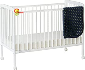 Alex Daisy Fisher Price Wooden Baby Cot (White)