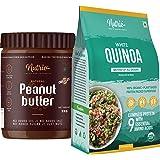 Nutrio Chocolate Peanut butter 1KG + 100% Organic Quinoa 1KG Combo Pack (USDA Certified) (1KG + 1KG)