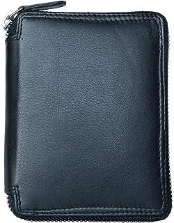 Brun HoYiXi Portefeuille en V/éritable Cuir Carte Etui avec RFID Blocage Porte Carte de Cr/édit Porte-Monnaie avec la Fermeture /éclair