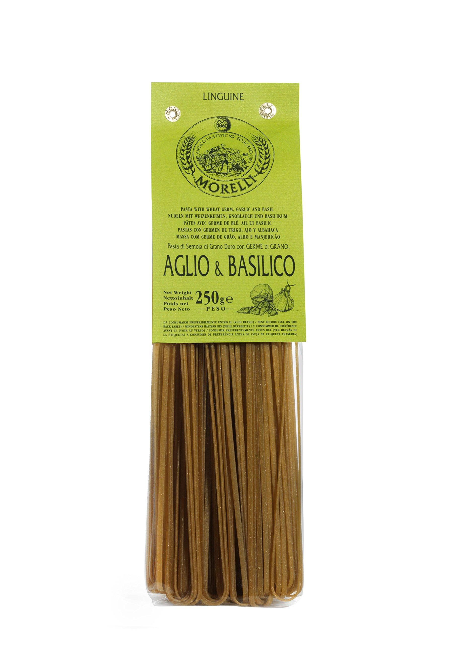 Antico Pastificio Morelli - Linguine Aglio e Basilico - gr. 250 x 16