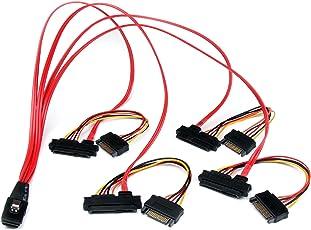 StarTech.com Cavo Mini SAS SCSI Seriale Collegato da SFF-8087 a 4X SFF-8482, 50 cm