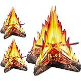 Tatuo 12 Pulgada de Alto Fuego Artificial Hoguera de Cartón Decorativa 3D Antorchas de Centro de Mesa Materiales de Fiesta pa