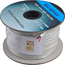 C&E 250 Feet 16AWG CL2 Rated 2-Conductor Loud Speaker Cable (For In-Wall Installation)