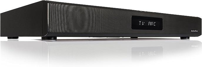 AudioAffairs TVS 2018 TV-Soundstand - HDMI Arc Heimkinoanlage Soundbar mit FM PLL UKW Radio, Integriertem Subwoofer, Bluetooth 3.0 & Fernbedienung schwarz