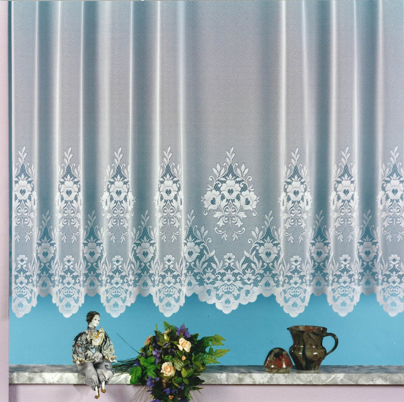 Gardine Vorhang Store Weiss Aus Hochwertigem Jacquardstore Mit Transparentem Oberstoff Und Kruselband H X B 220 450 Cm Amazonde Kche Haushalt