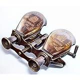 vintage-brass Brass Antique Telescope (3 inch, Brown)