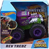 Hot Wheels Monster Truck 1: 43 Rev Tredz Bone Shaker(Assorted)