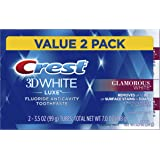 Crest Crest Twin Pack 3D White Luxe Glamorous White Toothpaste, 3.5 Ounce each, 2 Pack