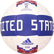 Adidas World Cup Soccer Official Licensed Product USA Ball, Size 5, White/Collegiate Green/Red