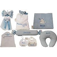 Set Prima Infanzia Neonato Fiocco Nascita Sacco Nascita Accapatoio Neonato Bavettina Cuscino Allattamento Caramella…
