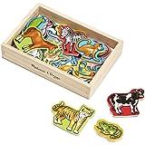 Melissa & Doug Wooden Animal Magnets   Developmental Toy   Cognitive Skills  2+   Gift for Boy or Girl