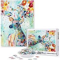 Magicfun Puzzle de 1000 Pièces-Cerf Sika, Casse-tête de Bricolage avec Impression Haute Définition pour Enfants Adultes…