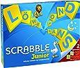 Mattel Games Y9670 - Scrabble Junior Wörterspiel, Kinderspiel geeignet für 2 - 4 Spieler, Spieldauer ca. 20 - 30 Minuten, Brettspiele und Wortspiele ab 5 Jahren