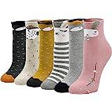 LOFIR Calcetines Térmicos de Algodón para Niñas Invierno Calcetines Gruesos y Cálidos, Calcetines Colores Casuales Novedad pa