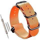 stile NATO sostituzione cinturino cinturino in nylon balistico 18mm uomini di colore arancione di