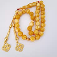 masbaha rosary prayer beads sibha tasbeeh men gift amber sand with smell مسبحة سبحة كهرب تراب كهرمان