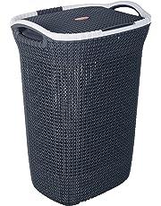 Nayasa Rope Multipurpose Plastic Laundry Basket (Small) Blue